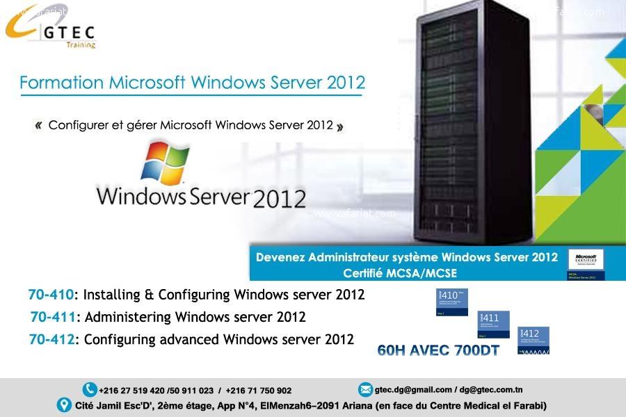 Annonce sur Affariat Tunisie pour: Formation en Windows Server 2012