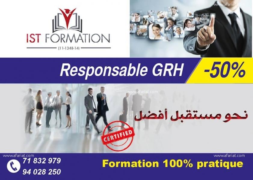Annonce sur Affariat Tunisie pour: IST Foramtion : -Formation en Responsable GRH