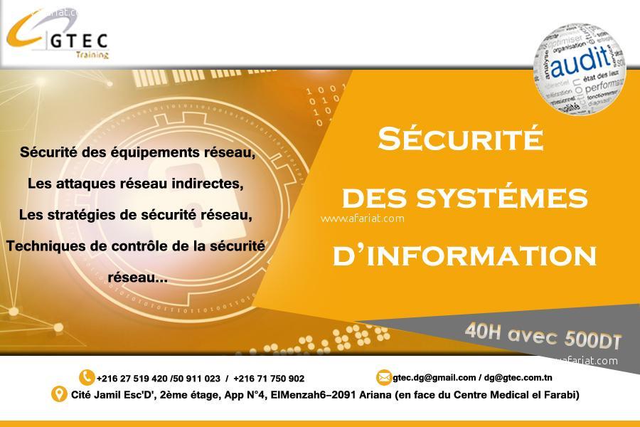 Annonce sur Affariat Tunisie pour: Formation Pratique en Sécurité Réseaux & Systèmes