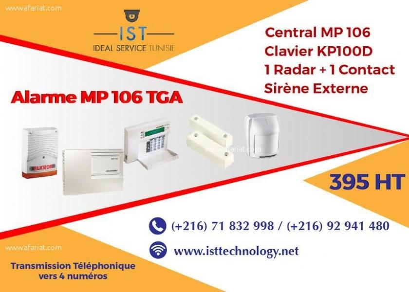 Annonce sur Affariat Tunisie pour: Kit d'alarme filaire Elkron MP 106 TGA